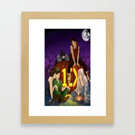 1D Halloween Framed Art Print