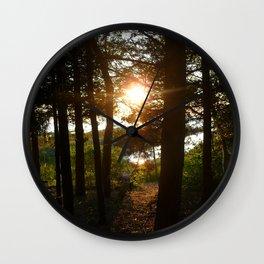 Sun on the Water Wall Clock