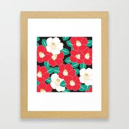 Shades of Tsubaki - Red & Black Framed Art Print