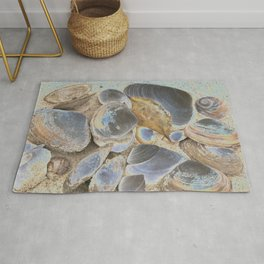 Seashell Abstract Rug