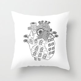 Home Is Not A Place Throw Pillow