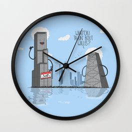 Whatchu' talkin bout willis Wall Clock