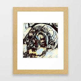 Metal Paper Skull Framed Art Print