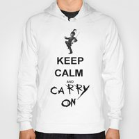 my chemical romance Hoodies featuring Keep Calm and Carry On: My Chemical Romance by alainaci