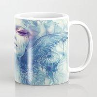 oil Mugs featuring Oil by Anna Dittmann