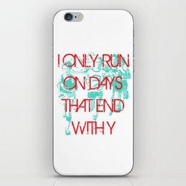 Running Days iPhone Skin