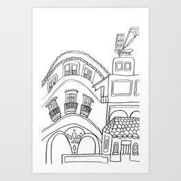 Beautiful Malaga City Art Print