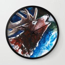 Deer - Valentine - animal by LiliFlore Wall Clock