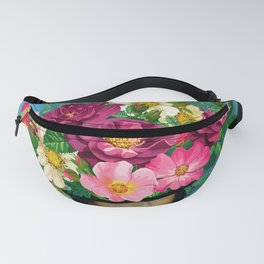 Flower Woman Surreal Fanny Pack
