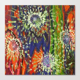Induced Cosmic Revelations (Four Dreams, In Mutating Cycle) Canvas Print