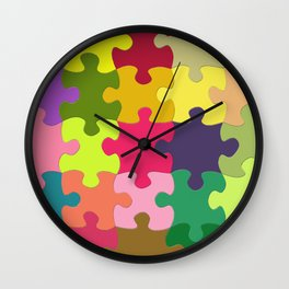 Colorful Puzzle Wall Clock