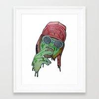 kurt rahn Framed Art Prints featuring Kurt  by Montana