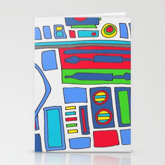 cool boys like epic droids Stationery Cards