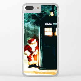 Keep Watching The Tardis Light Clear iPhone Case