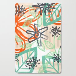 abstract summer Cutting Board