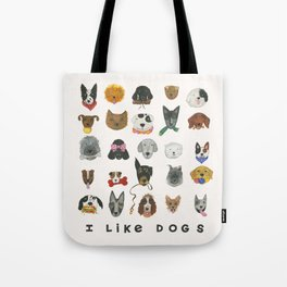 I Like Dogs Tote Bag