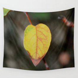 Red and Yelow Leaf Wall Tapestry