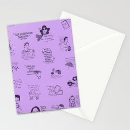 Gilmore Girls Quotes in Purple Stationery Cards