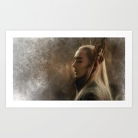 thranduil Art Prints featuring Thranduil by Andi Robinson