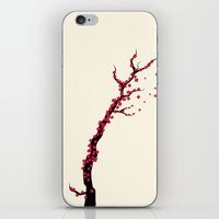 sakura iPhone & iPod Skins featuring Sakura by AnishaCreations