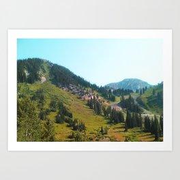 Mountain Forest Art Print