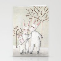 bunnies Stationery Cards featuring Bunnies by Arianna Usai