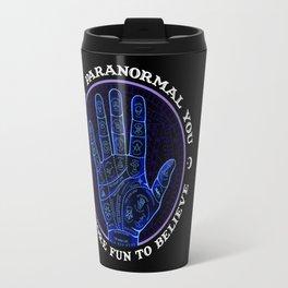 Me & Paranormal You - James Roper Design - Palmistry (white lettering) Travel Mug