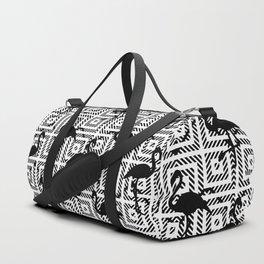 B&W Geometric Flamingos #society6 #decor #buyart Duffle Bag