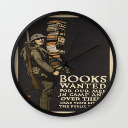 Vintage poster - Books Wanted Wall Clock