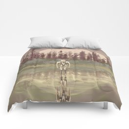Tree spirit from the woods lake Comforters