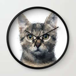 Geometric Kitty Wall Clock