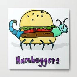 World's Best Hambugger Metal Print