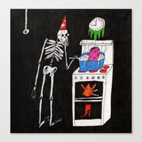 cooking Canvas Prints featuring Cooking. 2015.  by Carp Matthew