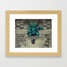 Dark Souls Gameboy Demake: Asylum Demon ( no HUD version) Framed Art Print