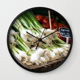 Monday Market Wall Clock