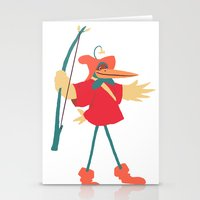 robin hood Stationery Cards featuring The many disguises of Robin Hood by Bruno Gabrielli