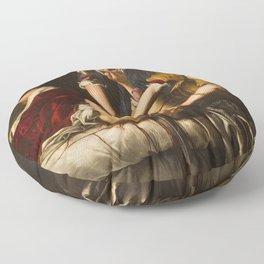 Judith Slaying Holofernes by Artemisia Gentileschi Floor Pillow