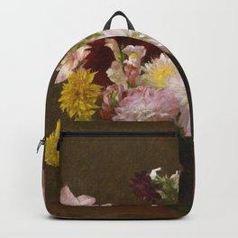 Henri Fantin Latour - Flowers Backpack