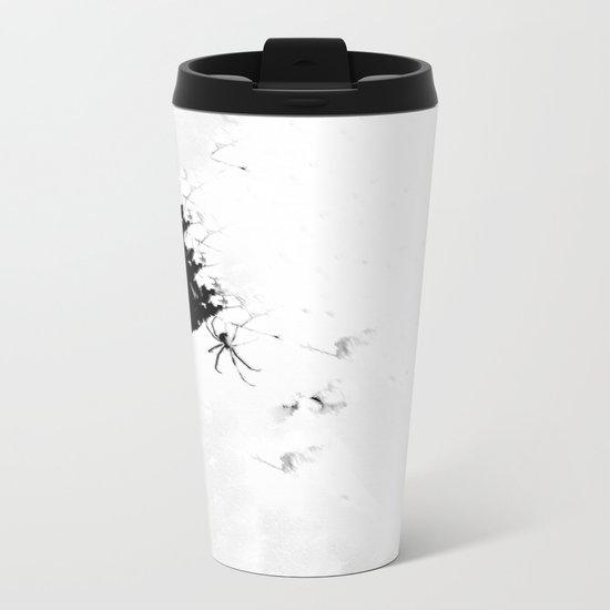 Paper Webbing Metal Travel Mug