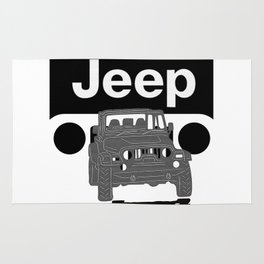 Jeep On the road Rug