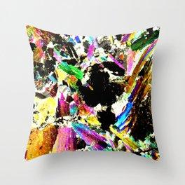 actinolite-calcite thin section print Throw Pillow