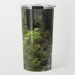 Mountains, forest, water. Travel Mug