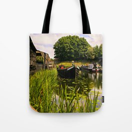 Canal dock. Tote Bag