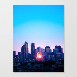 Shinjuku Sunrise Canvas Print