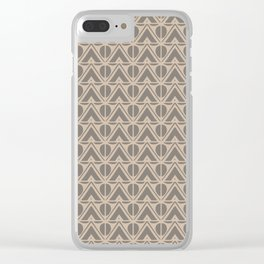 Mountains And Suns Beige Grey Clear iPhone Case