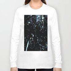Decay Pattern, Black with Splash Long Sleeve T-shirt