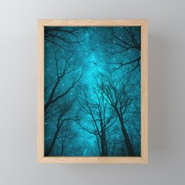Stars Can't Shine Without Darkness Framed Mini Art Print