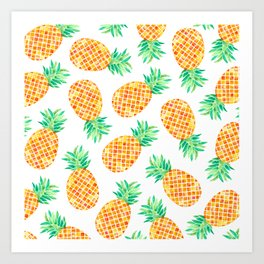 Pineapples! Art Print