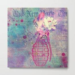 Flower Boom Metal Print