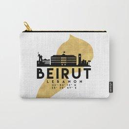 BEIRUT LEBANON SILHOUETTE SKYLINE MAP ART Carry-All Pouch